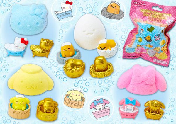 日本直送 Sanrio 三麗鷗 凱蒂貓 美樂蒂 布丁狗 蛋黃哥 香氛入浴劑 單售 一共10款圖案 (隨機出貨)