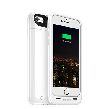 【迪特軍3C】mophie Juice Pack Plus for iPhone 6/6S 背蓋電源(白)