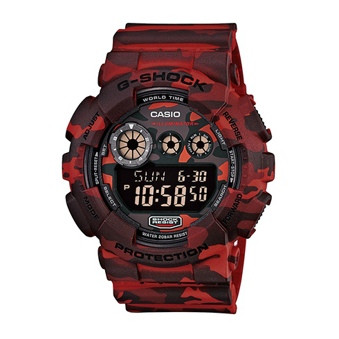 CASIO G-SHOCK GD-120CM-4迷彩紅叢林戰鬥腕錶/51mm