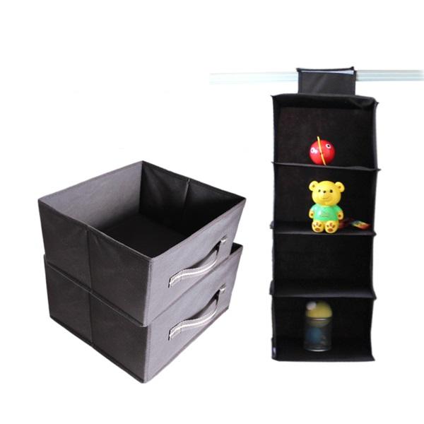 現貨 - 衣櫃收納掛袋 吊掛收納 懸掛式收納衣櫃 收納掛袋 (咖啡色)