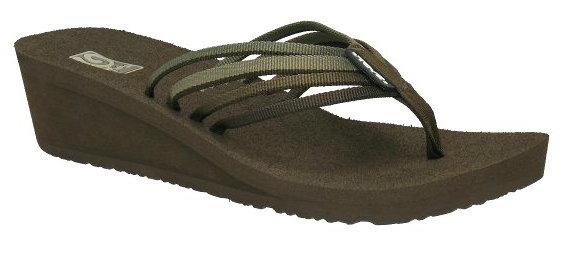 [陽光樂活=]TEVA (女)美國水陸運動品牌 Mush 夾腳厚底高跟拖鞋 棕 TV1000098CCHP