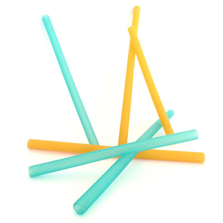 【美國 silikids】果凍餐具 – 六入矽膠吸管組(三種尺寸)