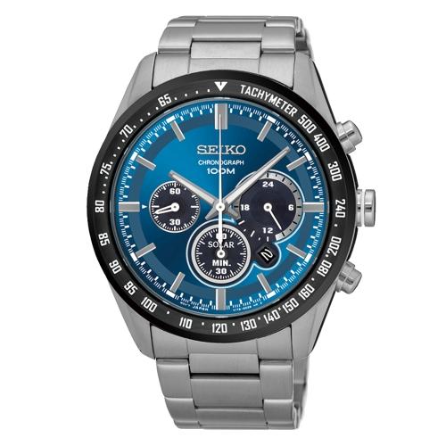 SEIKO Criteria時尚率性太陽能計時腕錶/V175-0DK0B/SSC465P1