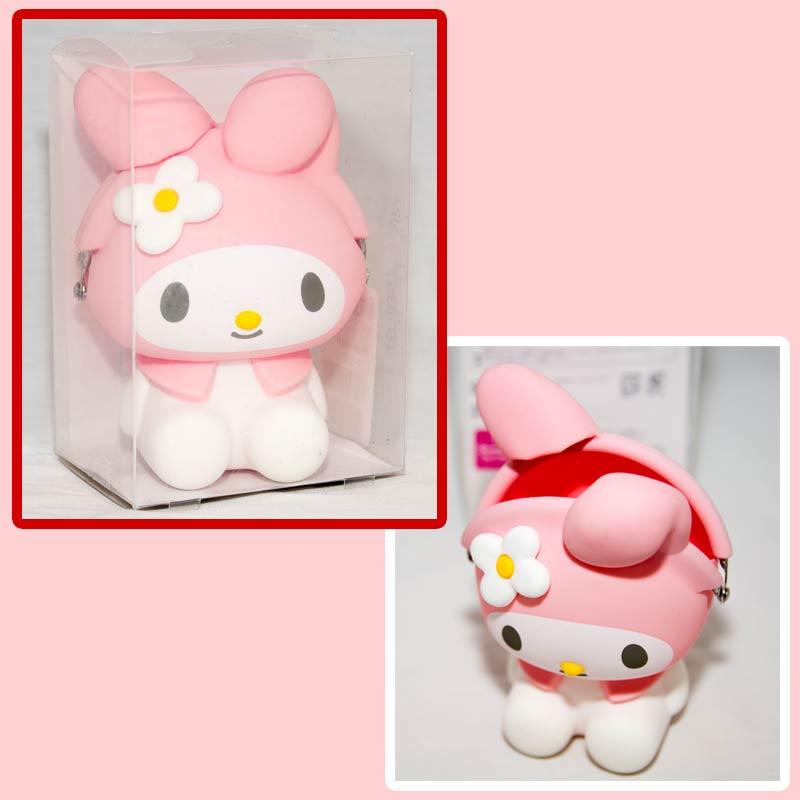 粉色 My Melody 美樂蒂造型 矽膠零錢包 mimi POCHI 日本正版