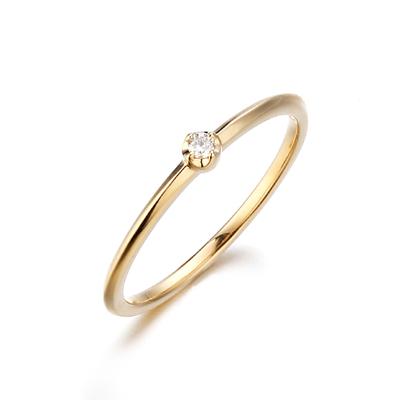 〔APM飾品〕日本Annie et lou 意義非凡恆久鑲鑽10K金戒指 (輕珠寶)
