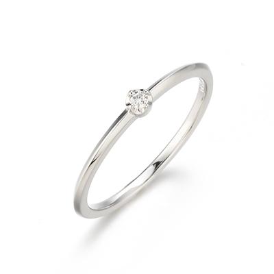 〔APM飾品〕日本Annie et lou 意義非凡恆久鑲鑽10K銀戒指 (輕珠寶)