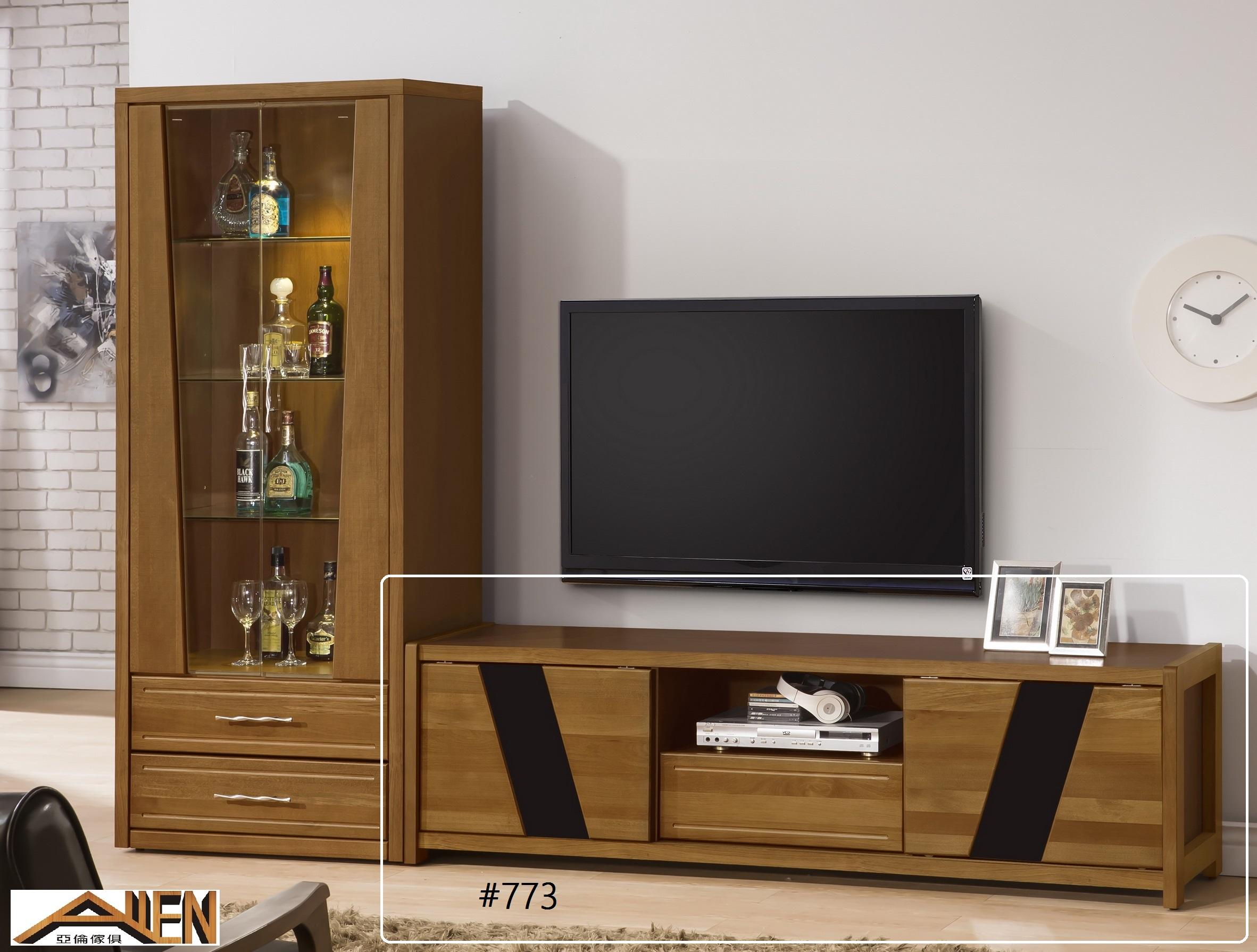 亞倫傢俱*文森卡索南洋檜實木6尺電視櫃