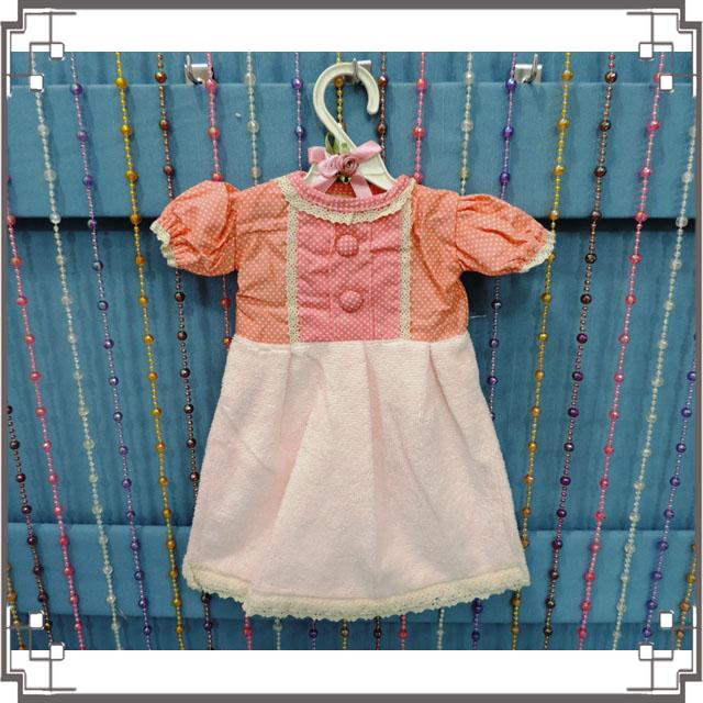 ↙特價↘小洋裝擦手巾《Q3-2》鄉村點點洋裝造型擦手巾 鄉村風擦手巾 含衣架◤彩虹森林◥
