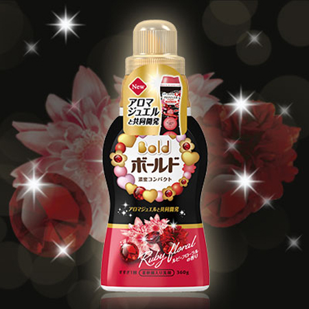 獨家最新款 日本 P&G Bold濃縮香氛洗衣精(紅寶石花香) 360g 含柔軟劑 衣物香香豆同系列 寶僑【N200952】