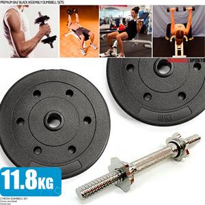 10公斤槓片組+1.8公斤短槓心(10KG啞鈴片槓鈴片.26磅舉重量訓練.推薦哪裡買)M00099