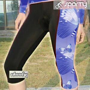 【sporty】紫色女性四針六分車褲.自行車.腳踏車.卡打車.單車.小折.騎行服P082-C0199