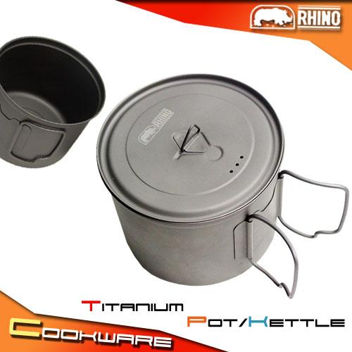 [RHINO 犀牛] 550.CC 鈦合金超輕湯壼.露營用品.登山用品.野炊