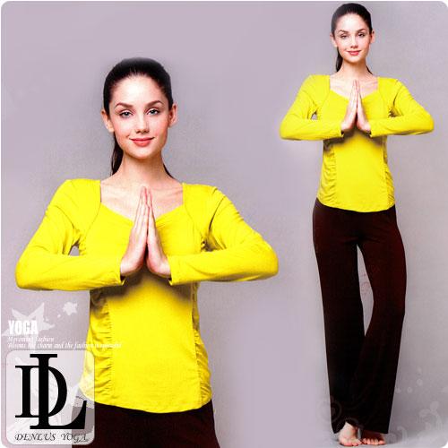 【DENLUS】天蠶絲有氧韻律瑜珈運動套裝(DL109218上衣+DL109807褲子) .健身.有氧