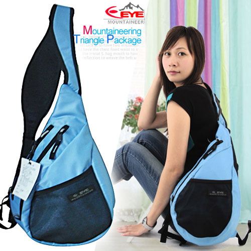 【Mountaineer】安全反光可愛三角包.背包.包包P043-EYE308