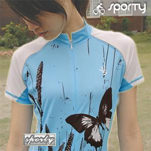 【sporty】墨蝶之女性短袖反光車衣.自行車.腳踏車.單車.小折.騎行服