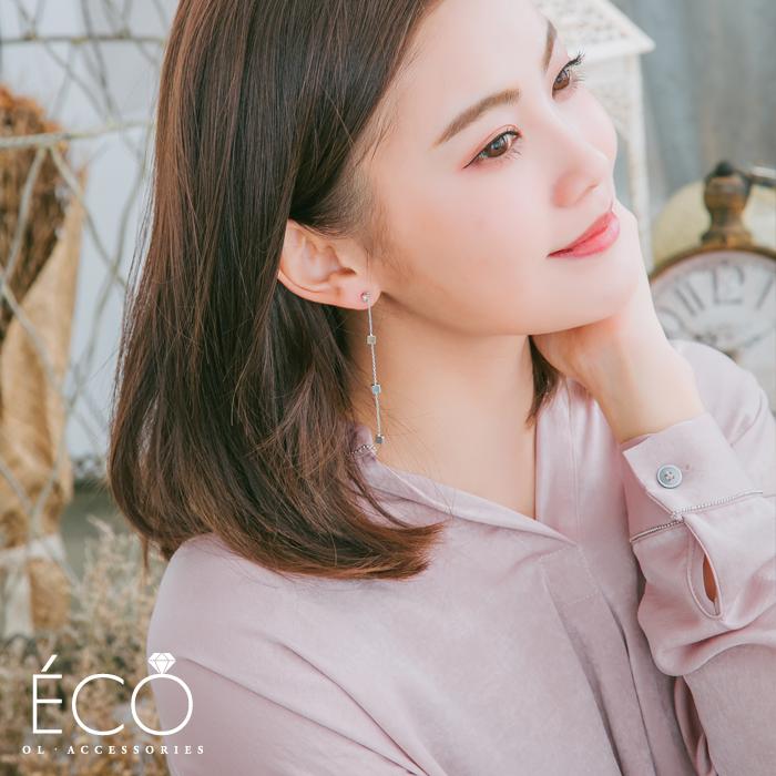 方塊,垂墜夾式耳環,無耳洞耳環,韓製,韓國,耳環