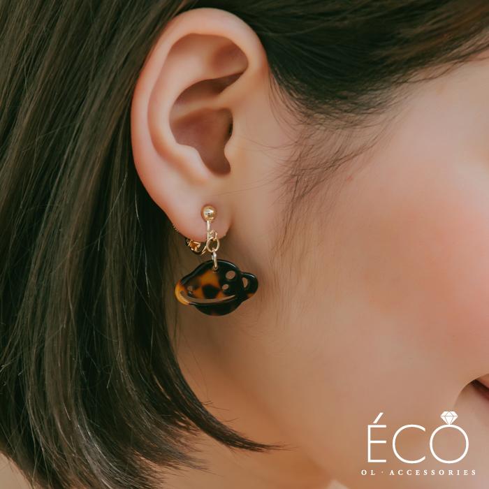 星球,火箭,夾式耳環,無耳洞耳環,韓製,韓國,耳環
