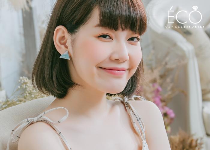三角,夾式耳環,無耳洞耳環,韓製,韓國,耳環
