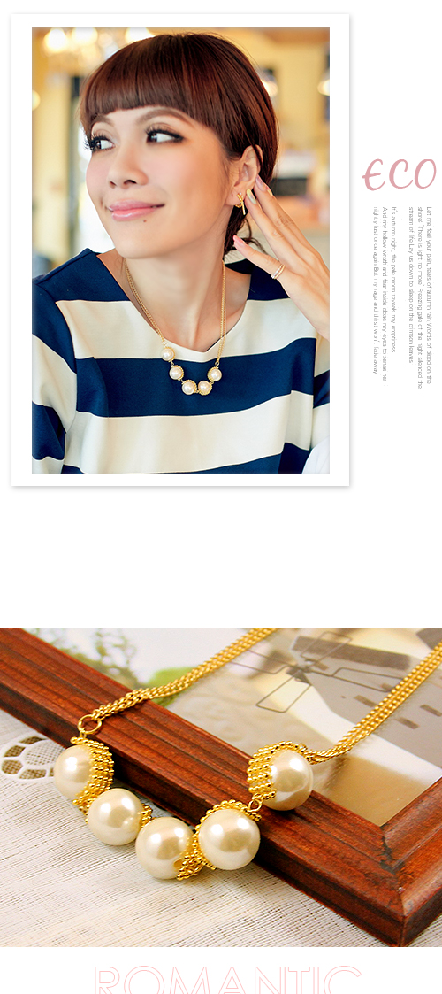 珍珠,雙鍊,鎖骨項鍊,韓貨,韓國製,韓國,項鍊