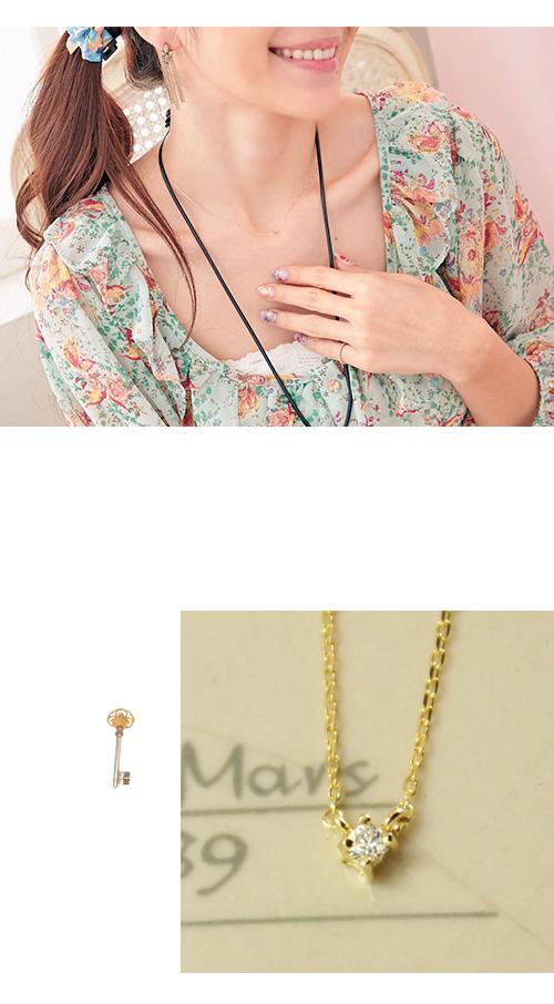 單鑽,水鑽,鎖骨項鍊,韓製,韓國,項鍊