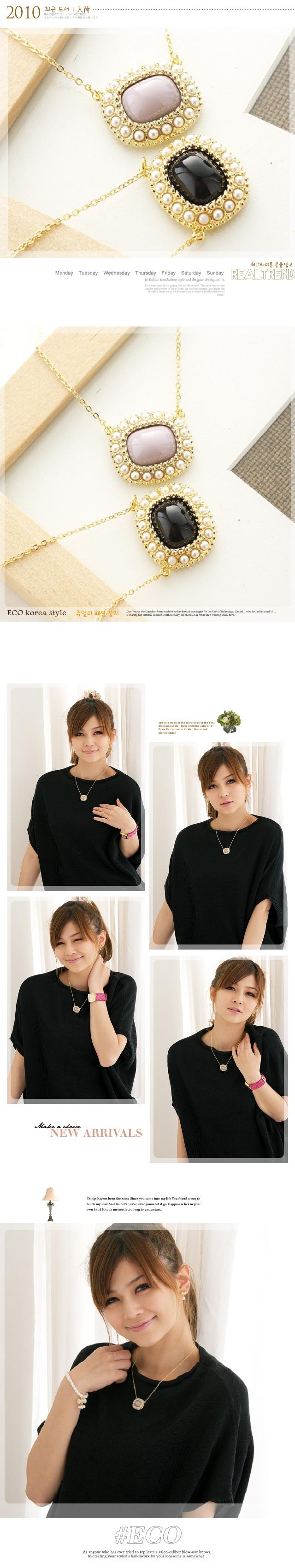 白瓷項鍊,陶瓷項鍊,珍珠項鍊,韓國項鍊,韓國製項鍊,韓國飾品,項鍊