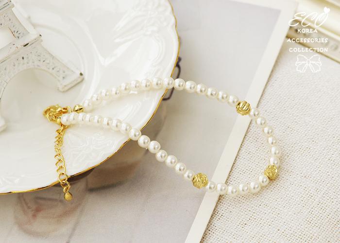 珍珠,氣質,玫瑰,韓國製腳鍊,韓國飾品,腳鍊