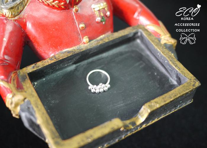 珠珠戒指,牽牛花戒指,優雅設計,925純銀,純銀戒指,925純銀戒指,純銀飾品,戒指