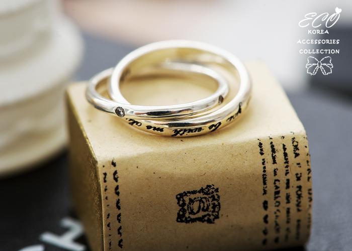 雙環,鑽,字母,925純銀,純銀戒指,925純銀戒指,純銀飾品,戒指