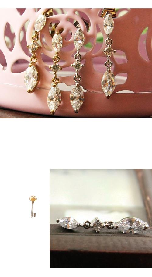 垂墜式,水鑽,水滴鑽,韓製,韓國,韓貨,耳環