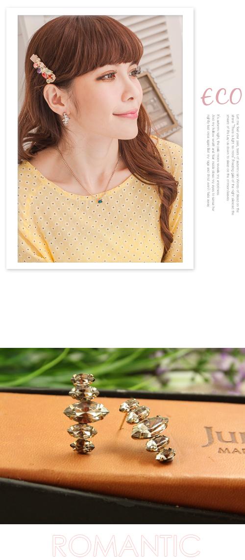 鐵塔,珍珠,水鑽,韓貨,韓製,韓國,耳環