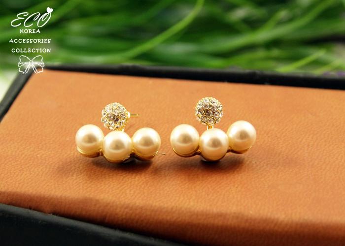 珍珠,單鑽,分離式,韓貨,韓國,韓製,耳環