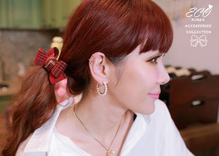 水鑽,單輪車,夾式耳環,韓製,韓國,耳環,耳夾