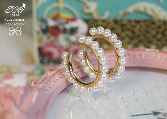 珍珠,C圈,純銀耳針,韓製,韓國,韓貨,耳環
