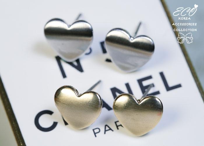 愛心,雙心,韓貨,韓製,韓國,耳環,亮面