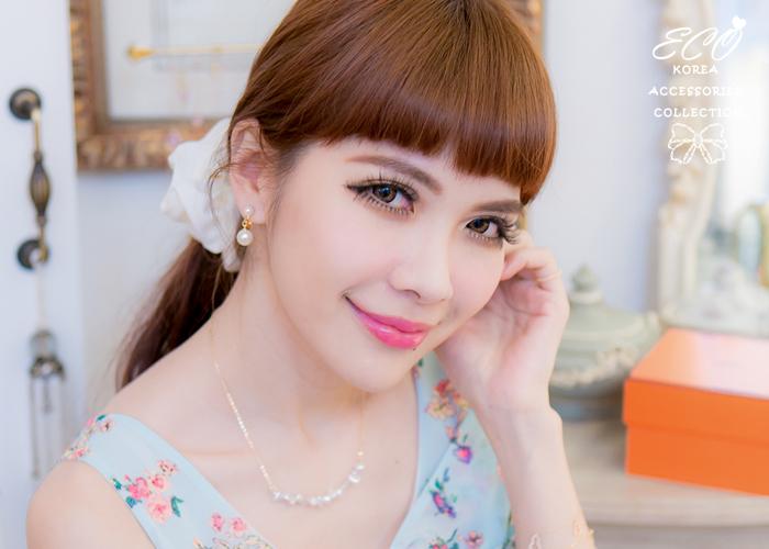 耳骨夾,無耳洞耳環,珍珠,古典,復古,夾式耳環,韓製,韓國,耳環