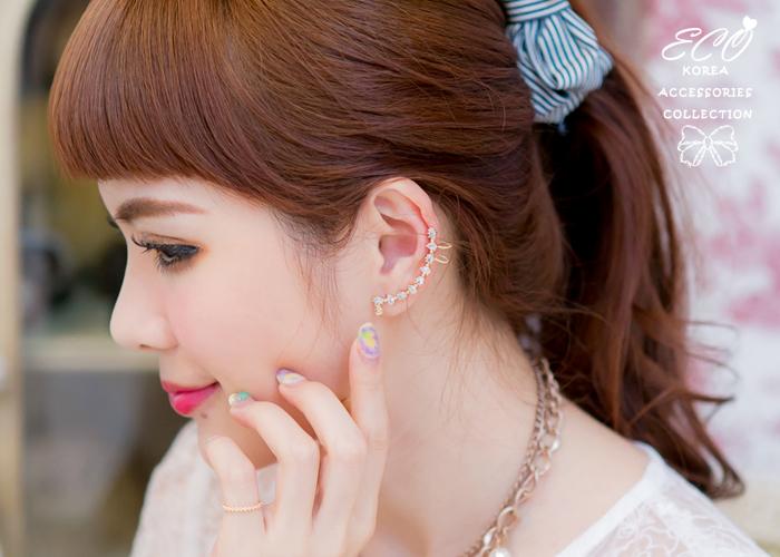 925純銀耳針,排鑽,耳骨夾,無耳洞耳環,韓製,韓國,耳環,針式耳環