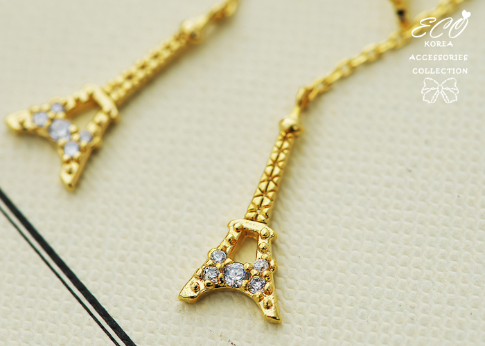 鐵塔,針式耳環,鑽,韓製,韓國,耳環