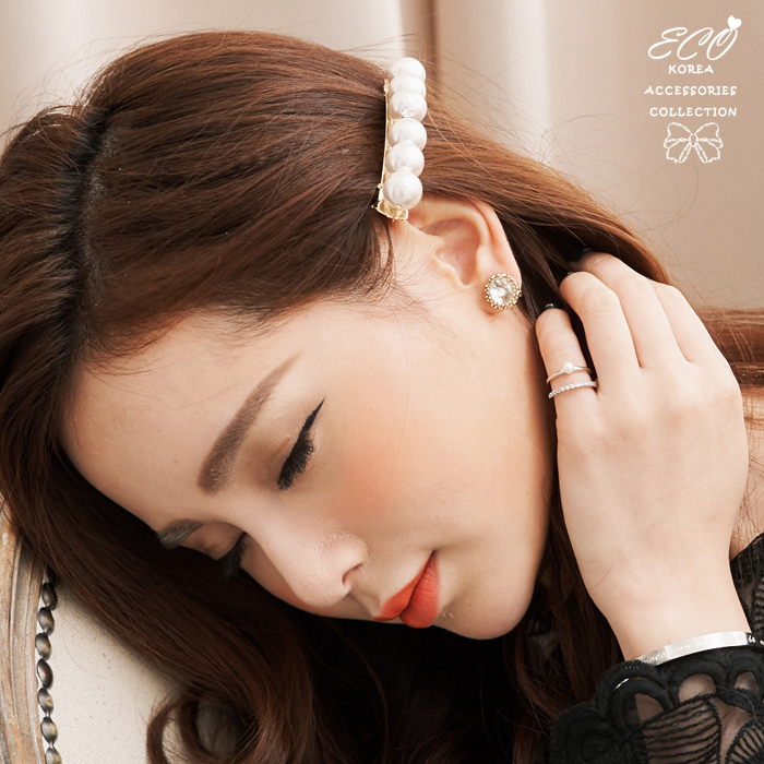 復古,華麗,大鋯石,個性,花邊,韓製,韓國,耳環,無耳洞耳環,耳骨夾,夾式耳環