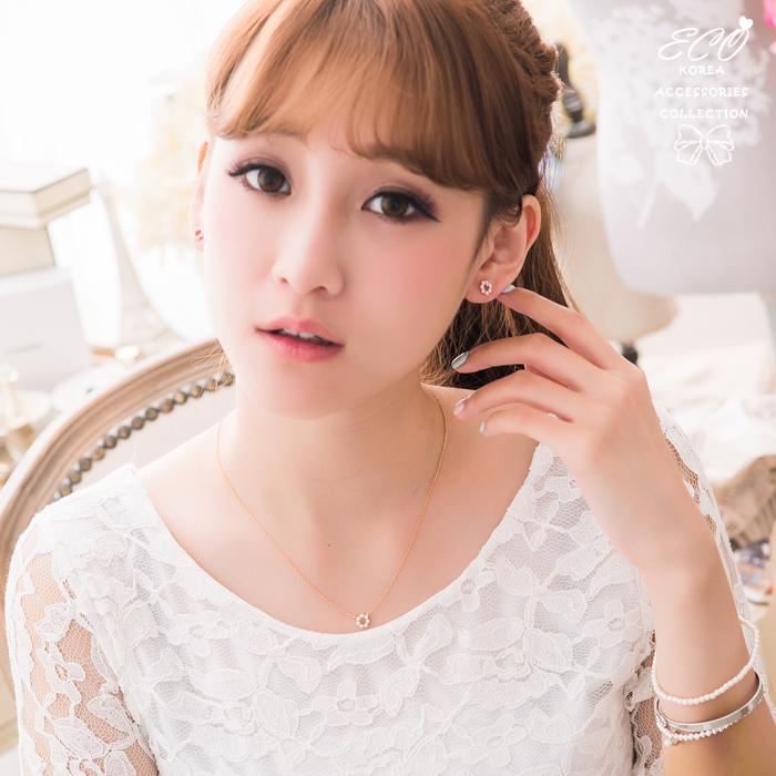 鏤空,圓,鑽,簡約,輕甜,925純銀耳針,氣質,韓製,韓國,耳環