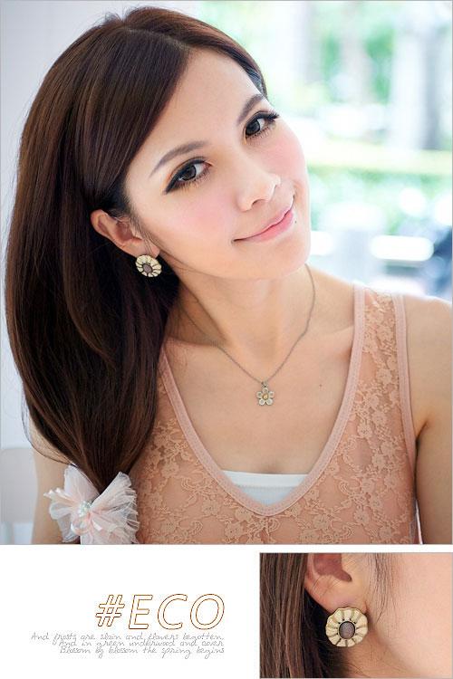 古銅耳環,花朵耳環,摩洛哥耳環,復古風耳環,韓國製耳環,韓國飾品,耳環