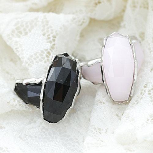 ECO安珂.優雅弧形寶石 耳環(2色)【2-935】