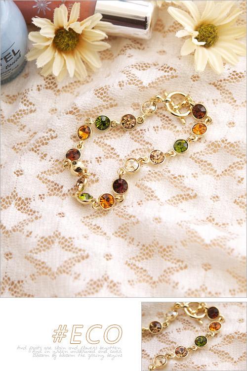 蛋白石手鍊,圈圈手鍊,寶石手鍊,韓國製手鍊,韓國飾品
