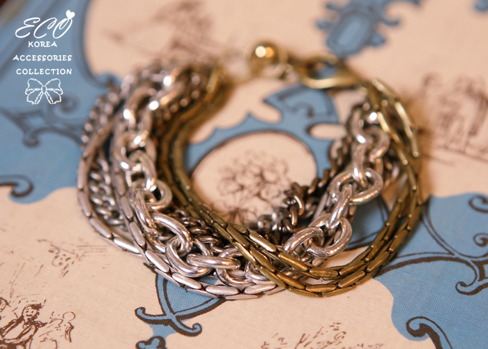雙色,多鍊,韓製,韓國,個性款,手鍊,手環
