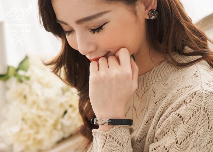 真皮,皮件,玳瑁,個性,韓國製手環,韓國飾品,手環