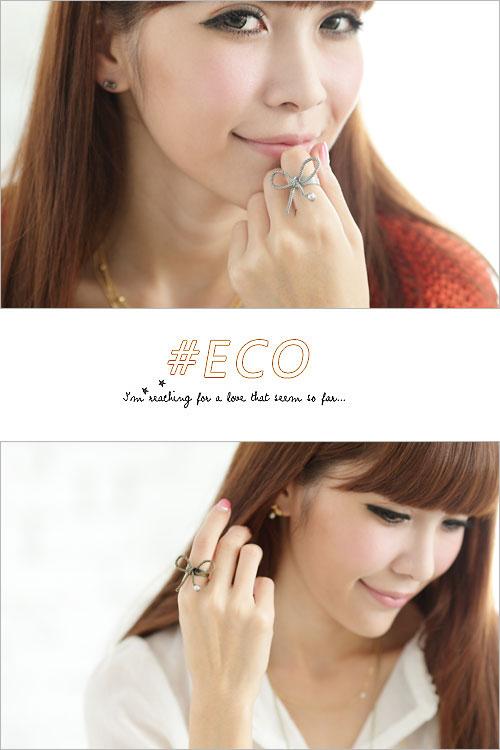 蝴蝶結戒指,珍珠戒指,古銅色,古銀色,韓國製戒指,韓國飾品,戒指