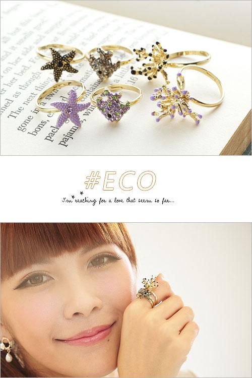 水鑽戒指,海星戒指,海洋風,韓國製戒指,韓國飾品,戒指