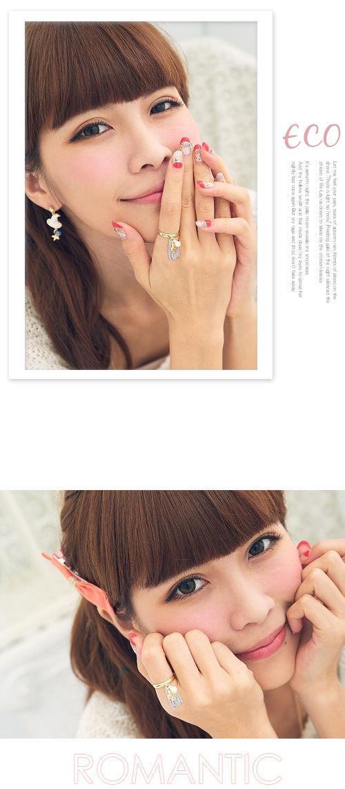 花,螢光,流蘇,韓星,韓國製,韓國,韓版,戒指