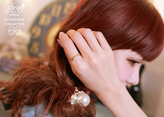 花猴,鍊鎖,水鑽,韓製,韓國,韓貨,戒指