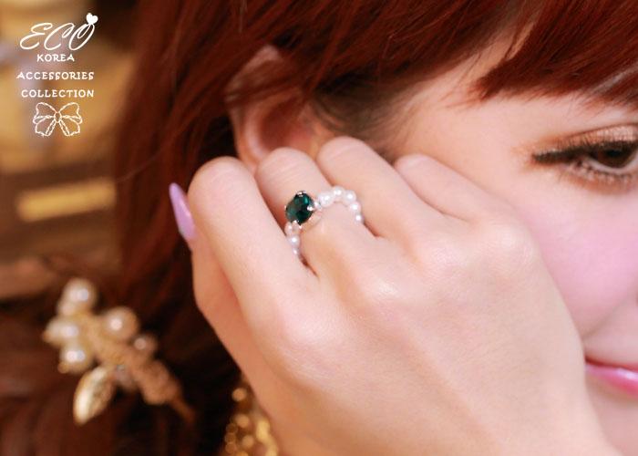 珍珠,粉紅,柔美,韓製,韓國,韓貨,戒指