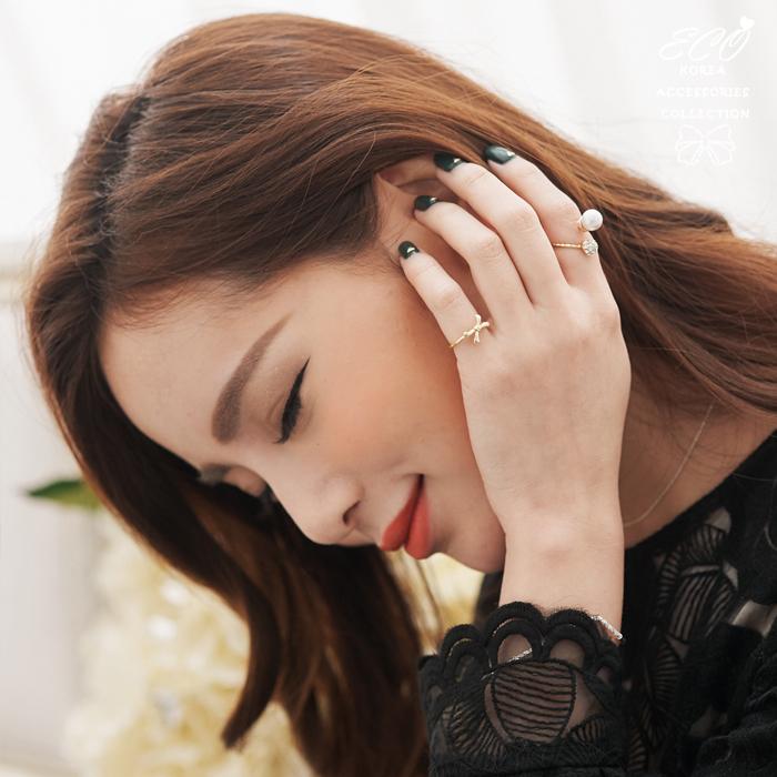 珍珠,鑽,時尚,個性,華麗,韓製,韓國,韓貨,戒指